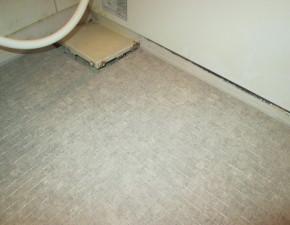416タイル貼浴室床からあったかい浴室シートにリフォーム!